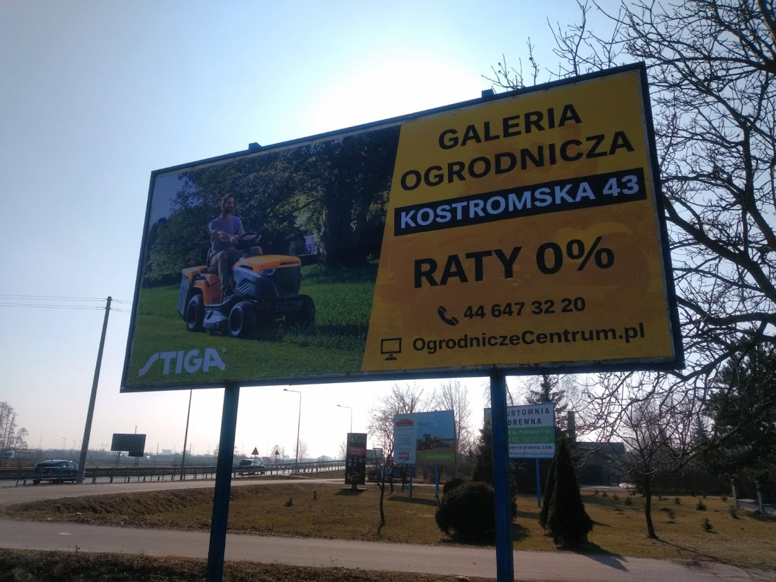 Baner reklamowy dla sklepu ogrodniczego, Piotrków Trybunalski