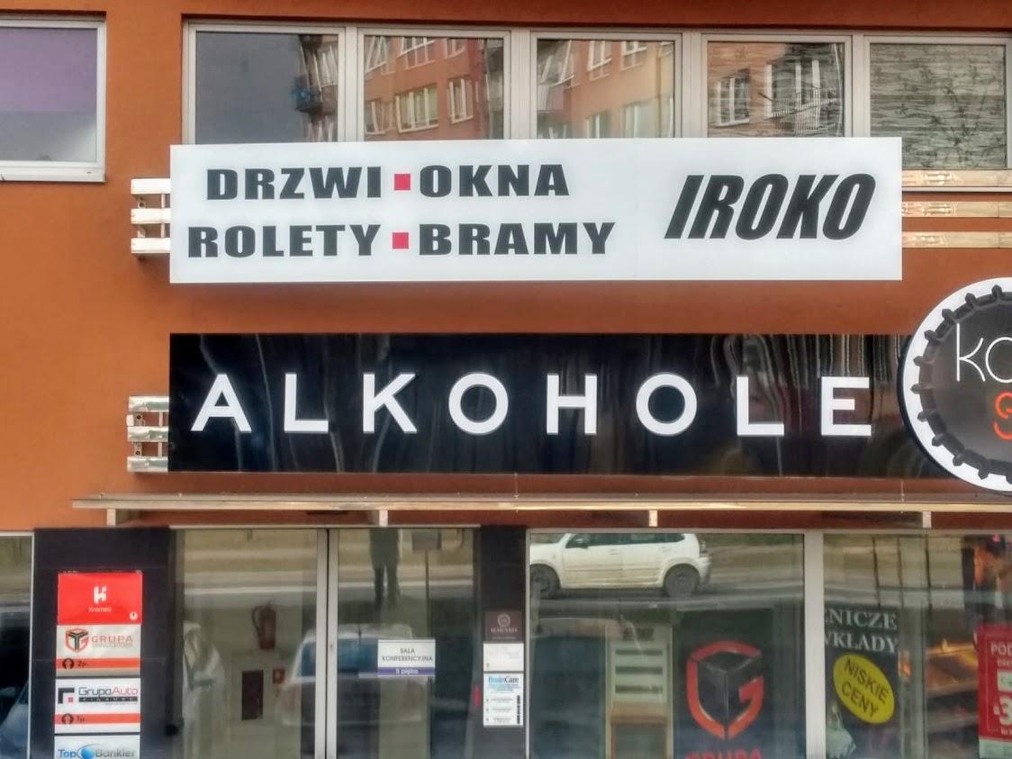 Szyld reklamowy na dibondzie, Piotrków Trybunalski
